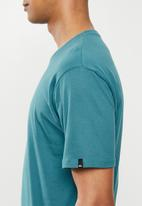 Quiksilver - Comp logo short sleeve tee - blue