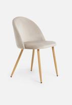 Sixth Floor - Slate dining chair - grey