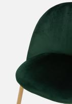 Sixth Floor - Slate dining chair - green