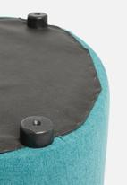 Sixth Floor - Alder ottoman large - teal