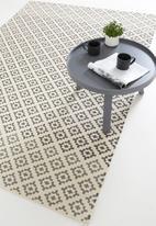 Sixth Floor - Hendesi printed rug - grey