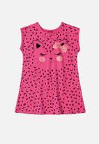 Bee Loop - Girls kitten dress - pink