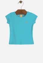 UP Baby - Girls short sleeve T-shirt - blue