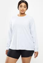 Cotton On - Curve active rib long sleeve top - grey