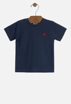 UP Baby - Baby boys basic tee - navy