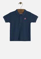 UP Baby - Soft jersey cotton polo - navy