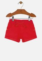 UP Baby - Girls twill shorts - red