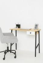 Sixth Floor - Cuba desk in oak veneer - black & neutral
