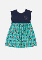 Bee Loop - Girls sleeveless printed dress - blue