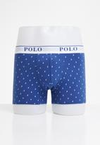 POLO - Reid all over print knit boxer - blue