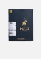 POLO - Classic knit boxer 3 pack - white & black
