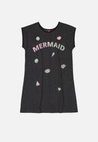 Bee Loop - Girls mermaid dress - dark grey
