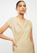 MANGO - Dress marta - gold