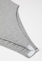Superbalist - 2 Pack elastic strap bodysuit - pink & grey