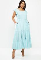 AMANDA LAIRD CHERRY - Plus cubhu dress - blue
