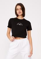 Factorie - Fitted graphic T-shirt - black