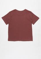 Fox - Burnout boys short sleeve tee - burgundy