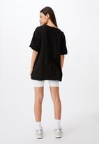 Factorie - Oversized graphic tee - washed black
