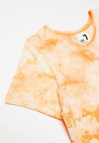 Cotton On - Freya short sleeve dress multipack - purple paradise/apricot sun tie dye