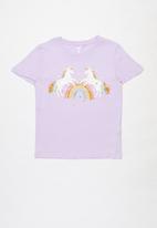 Cotton On - Stevie short sleeve embellished tee - vintage lilac