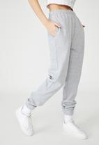 Factorie - Super high rise trackpant - grey marle