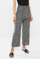 edit - Relaxed fit high waist pant - mono ditsy