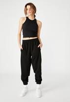 Factorie - Super slouchy trackpant - black