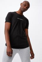 Factorie - Unrestricted curved graphic T-shirt - washed black