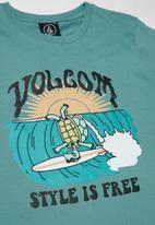 Volcom - Style is free boys short sleeve tee - blue