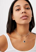 Rubi - Luxe layers lauren necklace -  silver