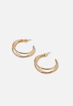 Rubi - Luxe layers hoop - double gold