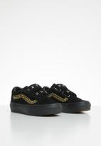 Vans - Uy old skool v - (suede stud) black leopard