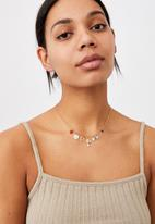 Rubi - Dominica charms necklace  - gold cross