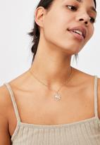 Rubi - Treasures short pendant necklace  - gold sun