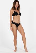 DORINA - High leg brazilian panties - black