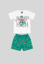 Bee Loop - Boys top & sweat bermuda set - multi