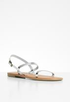Superbalist - Yandi leather slingback sandal - silver
