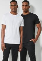 Superbalist - 2-Pack nate crew neck tee - black & white