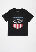 Fox - Freedom shield short sleeve tee - black