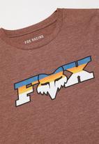 Fox - Fheadx slider boys short sleeve tee - heather eclipse