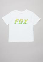Fox - Moth in flames boys short sleeve tee - white