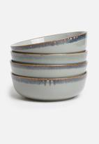 Sixth Floor - Aska bowl set of 4 - blue