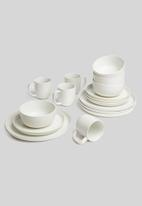 Sixth Floor - Lab side plate set of 4 - white