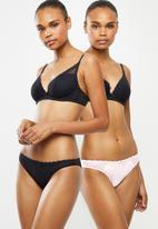 DORINA - Reese 2 pack brazilian - black & pink