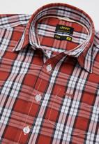 JEEP - Storm short sleeve check shirt - red