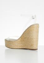 Public Desire - Jourdan clear upper espadrille wedge heel - clear