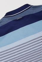 POLO - Boys lyle striped golfer - blue