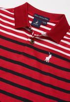 POLO - Boys lyle striped golfer - red