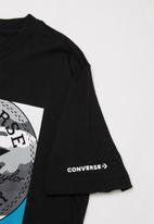 Converse - Converse boys camo mixed boxes tee - black