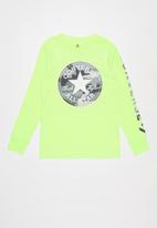 Converse - Converse boys camo chuck patch long sleeve tee - green